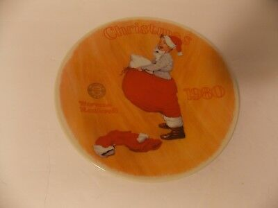 $ CDN9.16 • Buy Vintage Norman Rockwell's 1980 Christmas Collector Plate 19073 E Knowles Santa
