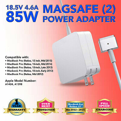 $16.57 • Buy 85W Power Adapter Charger For Apple MacBook Pro 15 Inch Mid 2012 2013 2014 2015
