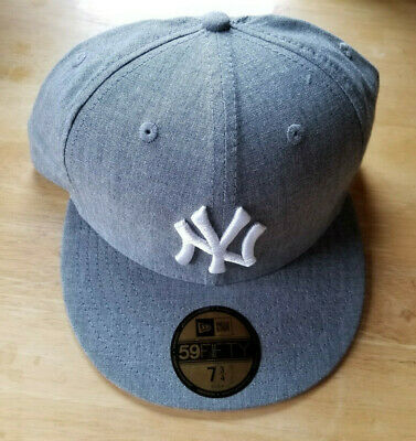 88342eb518306 New Era 59Fifty New York Yankees MLB Baseball Gray White Fitted Hat Cap 7 3