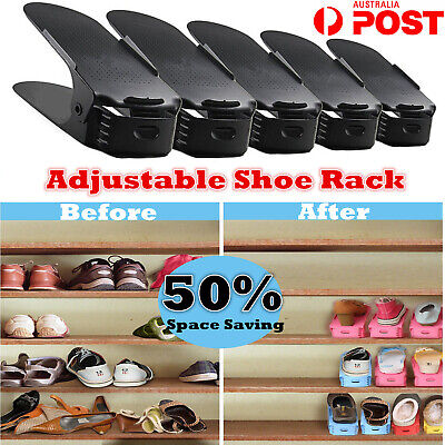 AU22 • Buy 10 Pack Easy Shoe Rack Shoe Slots Organizer Space Saver Shoes Rack Shoes Holder
