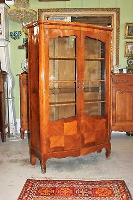 $1850 • Buy French Antique Inlaid Rosewood Louis XV Display Cabinet | Living Room Furniture