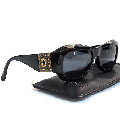 £92.12 • Buy Authentic Gianni Versace Black Sunglasses Mod 395 Col 852 BK Made Italy In Case