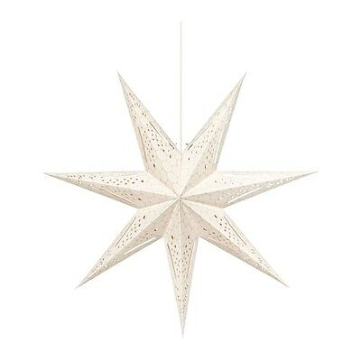Xmas Star Shaped Hanging Lamp In A Flower Pattern Beige Taupe Luminaire UK PLUG • 29.99£