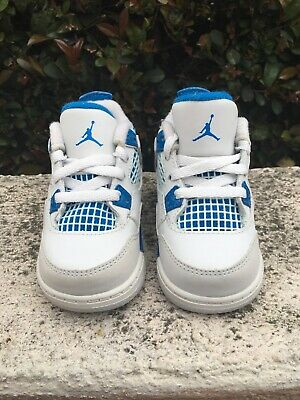 40070c561696 Authentic Air Jordan Retro 4 Military Blue Size 4C Toddler Kids Pre Owned •  17.50