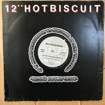 """Ian Dury And The Blockheads - Hit Me With Your Rhythm Stick 12"""" Vinyl 1978 • 5.99£"""