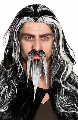 Goatee Beard Of Evil Wizard Moustache Emperor Facial Hair Fancy Dress Costume  • 5.99£