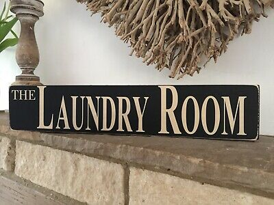 Laundry Room Sign Vintage Old Wooden Shabby Antique Style Farmhouse Mum Gift • 14.95£