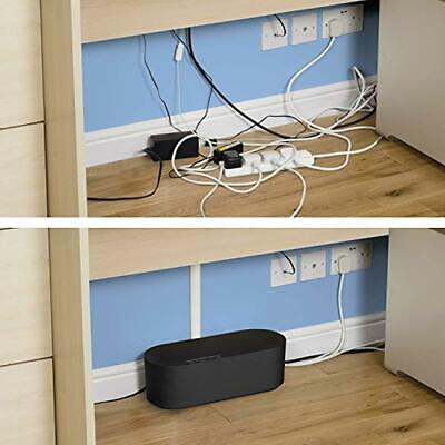 Cable Tidy Box Extension Lead Hide And Management Conceal Wire Storage Organiser • 15.82£