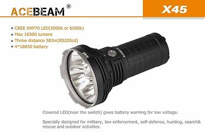 AU335 • Buy AceBeam X45 4XCREE XHP70.2 P2 16,500 Lumens Battery Included