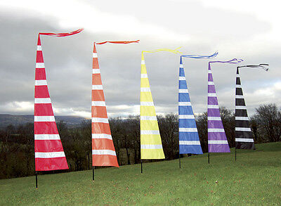 3m Streamer Banner Flag And Telescopic Pole Kit,  Ideal For Festivals, Camping • 26.95£