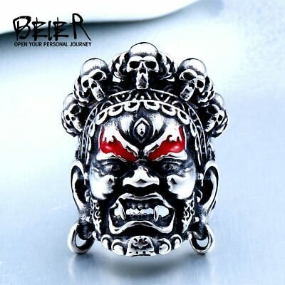 £6.51 • Buy Ring For Men Buddha God Of Wealth Punk Top Quality Stainless Steel Biker Rock