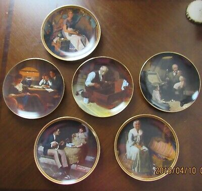 $ CDN99.60 • Buy Lot Of 6 Norman Rockwell Collector Plates With Certificate Of Authenticty