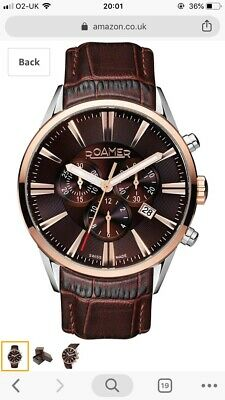 Roamer  4Men's Quartz Watch With Brown Dial Chronograph Display And Brown • 260£