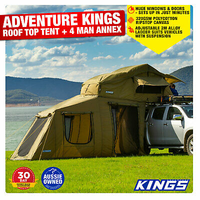 AU898.01 • Buy Camper Trailer 4wD Camping Rooftop Tent With 6 Man Annex Outdoor Home Adventure