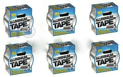 £12.95 • Buy 6 X 10 Metre Aluminium Tape Strong And Reliable Temporary Exhaust Pipe Repairs