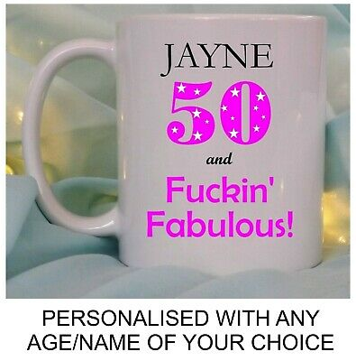 £8.95 • Buy PERSONALISED BIRTHDAY GIFT FOR HER RUDE FUCKIN FABULOUS FUNNY 40th 50th 60th MUG