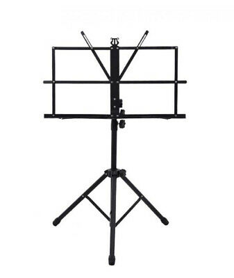 £7.49 • Buy Adjustable Easy Folding Book Sheet Metal Music Stand Portable Holder With Bag