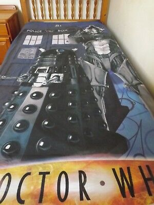 Vintage Dr Who Single Duvet Cover NO Pillowcase  50% Cotton 50% Polyester • 20£