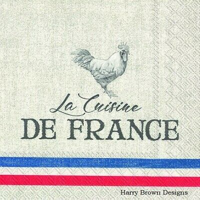 2 Paper Napkins / Serviettes For Decoupage / Parties / Weddings - French • 1.35£