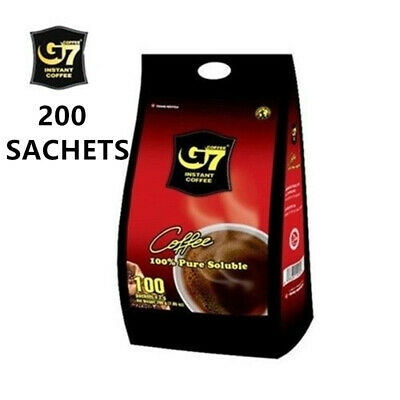AU63.59 • Buy G7 Trung Nguyen Black Coffee 200pcs X 2g  Vietnam Coffee Pure Soluble Best Price