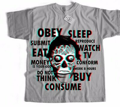 They Live Horror Gore Sci Fi Disobey Sci Fi Chinese Japanese Film Movie T Shirt • 6.95£