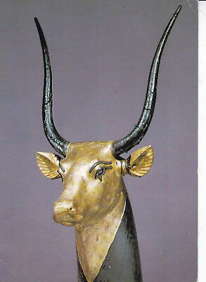 Treasures Of Tutankhamun Gilded Cows Head Postcard Unused VGC • 2.15£