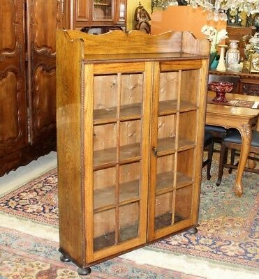 $1275 • Buy Antique Oak Arts & Crafts Bookcase / Display Cabinet | Living Room Furniture