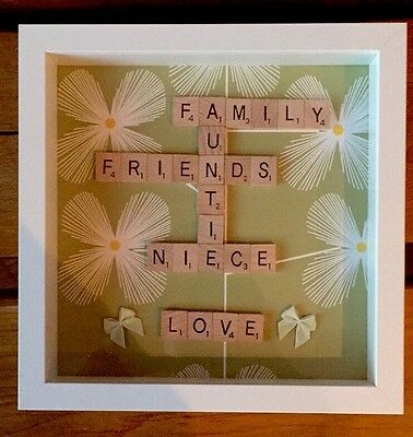 Scrabble Letter Picture Box Frame Personalised • 15£