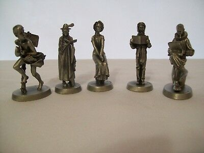 $ CDN119.26 • Buy Lot Of 5 Vintage Dave Crossman Inc. Norman Rockwell Pewter Figurines 1980