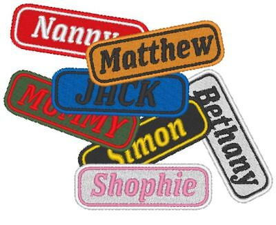 Personalised, Embroidered Name Tag, Patch. YOUR NAME OR CLUB PATCH • 3.99£