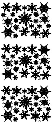 £1.10 • Buy SNF1 Assorted Snowflake Peel Off Stickers Card Making Glass Decoration Scrapbook
