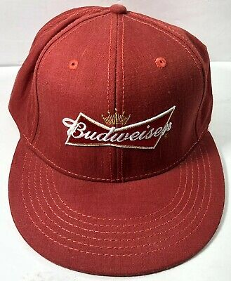 4da356ea368db Budweiser Beer Baseball Cap Hat Red Fitted One Size Fits All Grab Some Buds  • 12.34