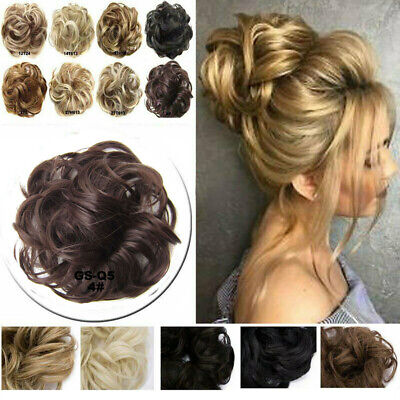 £5.79 • Buy Curly Messy Bun Hair Piece Scrunchie Updo Cover Hair Extensions Real As Human UK