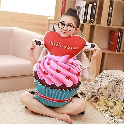 50cm Love Valentine/Kids 3D Simulation Ice Cream Cake Sofa Pillow Plush Cushions • 8.50£