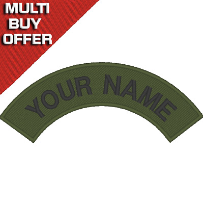 Personalised, Embroidered Name Tag, Patch, CLUB, LOGO, SCOOTER, BIKER, MCC. • 3.99£