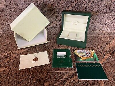 $ CDN253.88 • Buy 2003 Rolex 31.00.64 Medium Watch Box Set-2-Boxes-2-Booklets-Tag-Duster-Pillow
