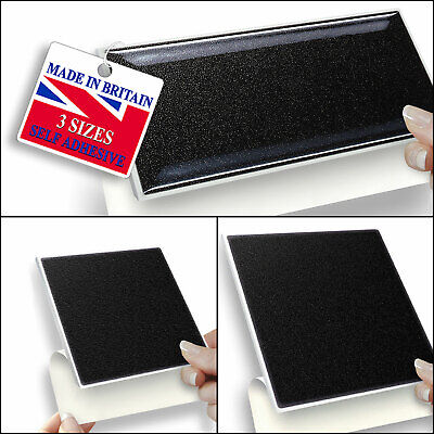 Black Self Adhesive Wall Tiles 3 Sizes In Square & Brick Shapes | Stick On Tiles • 12.99£