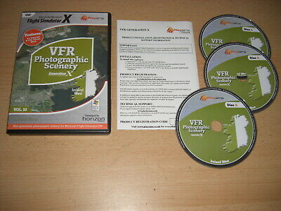 VFR SCENERY Generation X VOL 10 IRELAND WEST Pc Add-On Flight Simulator X FSX • 25.99£