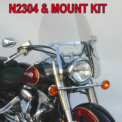 $274.41 • Buy Yamaha Xv750 Virago 1988-1998 N.c. Dakota 4.5 Windshield N2304 & Mount