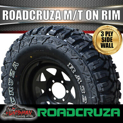 AU306 • Buy 17  Black Steel Wheel & Roadcruza 265/70R17L/T RA3200 Mud Tyre 265 70 17 32