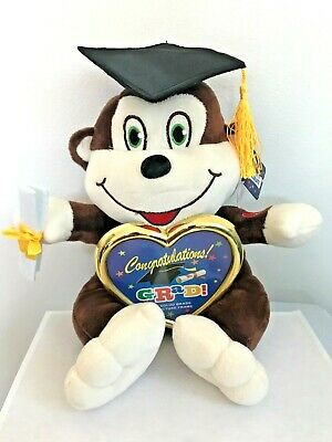 $ CDN24.16 • Buy Graduation Monkey 10'' Plush Stuffed Animal With Cap BROWN - Fast Shipping