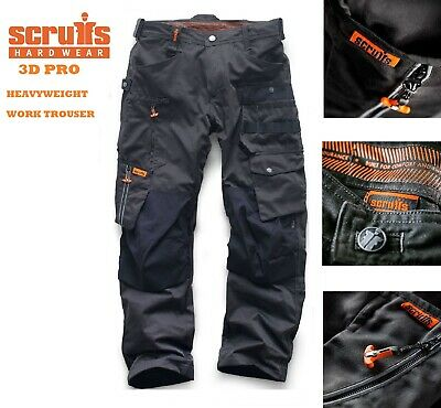 Scruffs 3D PRO Trousers - High Quality Trade Worker Trousers - Graphite / Grey  • 18.99£