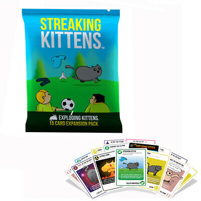 AU17.99 • Buy Streaking Kittens Second Expansion Of Exploding Kittens Multiplayer Card Game
