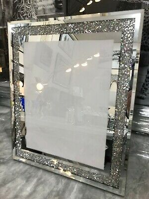 AU43.05 • Buy Crushed Diamond 8x10 Photo Frame, Mirror Glass Picture Frame Sparkle Picture
