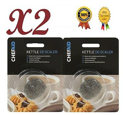 £2.99 • Buy 2 X Chef Aid Kettle Limescale Descaler Steel Wire Fur Collector Remover Cleaner