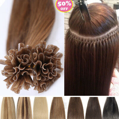 $21.34 • Buy 200S Thick 100G Keratin Pre Bonded Nail U Tip Remy Human Hair Extensions USAM273
