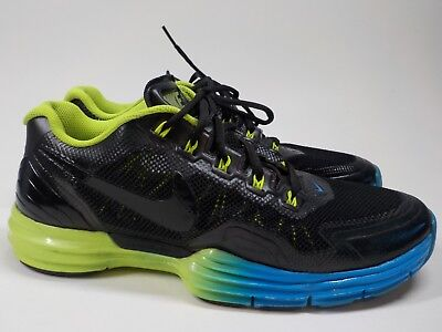 pretty nice 27f13 6e42e Nike Lunar TR1 SZ 12 Black Volt-Blue Glow Gradient Training Crossfit  529169-074