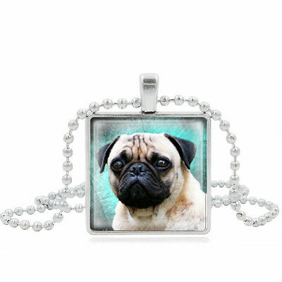 £2.99 • Buy Lovely Adorable Square Pug Necklace.  In Organza Gift Bag