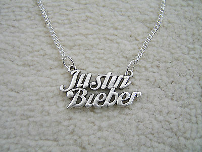 £2.25 • Buy Lovely  Justin Bieber Charm Necklace. Must See. With Organza Gift Bag