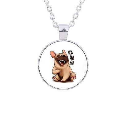£2.50 • Buy Lovely Adorable Funny Pug French Bulldog Dog Necklace. In An Organza Gift Bag